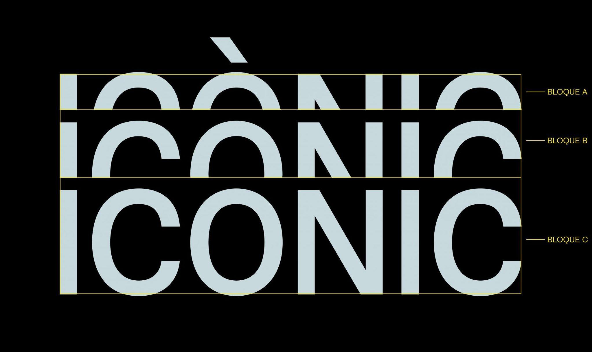 Mostrar el diseño del logo de ICÒNIC
